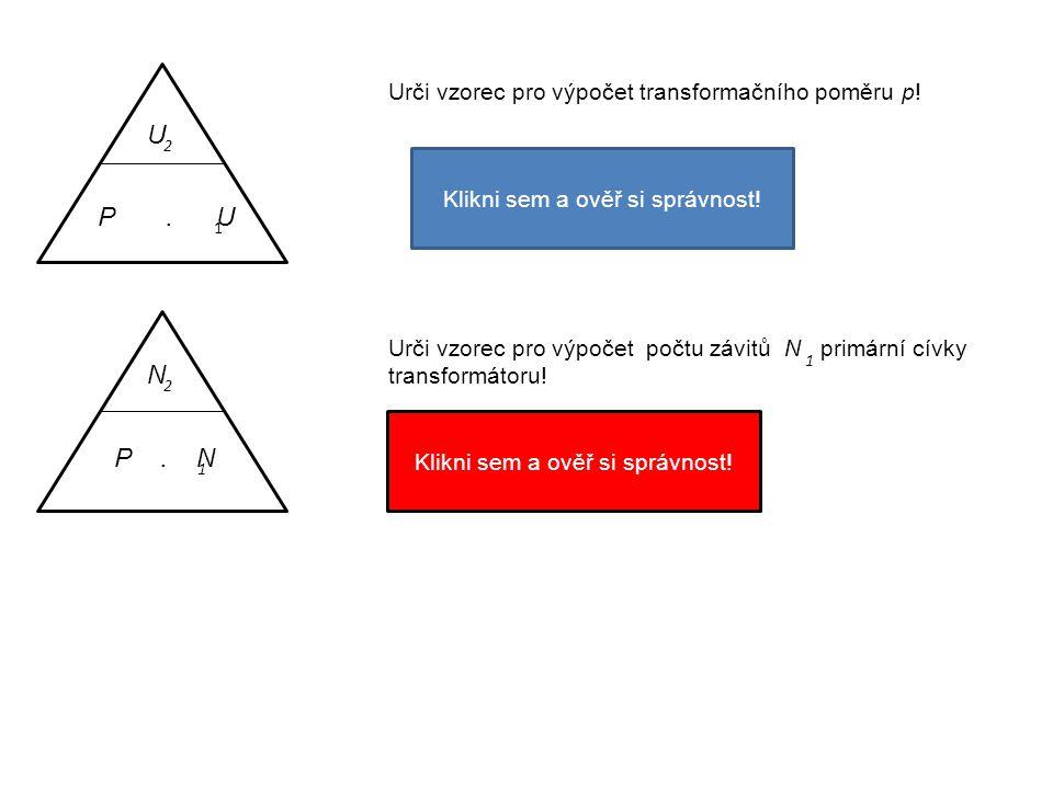 Urči vzorec pro výpočet transformačního poměru p!