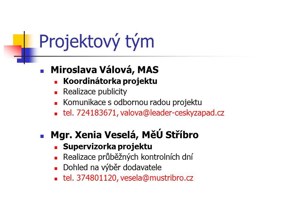 Projektový tým Miroslava Válová, MAS Mgr. Xenia Veselá, MěÚ Stříbro