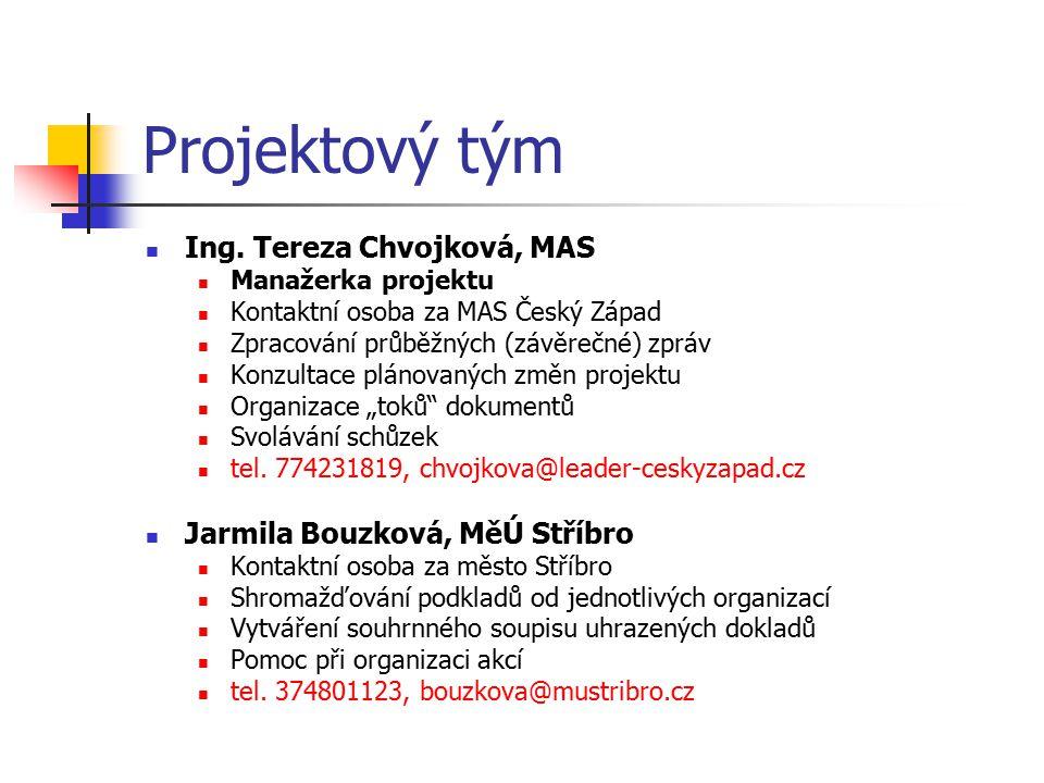 Projektový tým Ing. Tereza Chvojková, MAS
