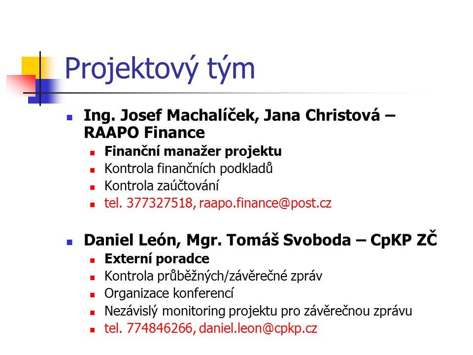 Projektový tým Ing. Josef Machalíček, Jana Christová – RAAPO Finance