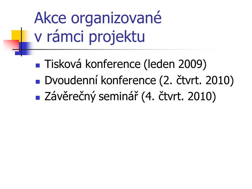 Akce organizované v rámci projektu