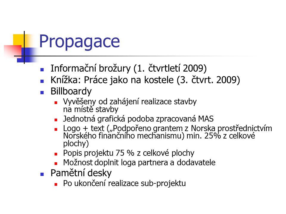 Propagace Informační brožury (1. čtvrtletí 2009)