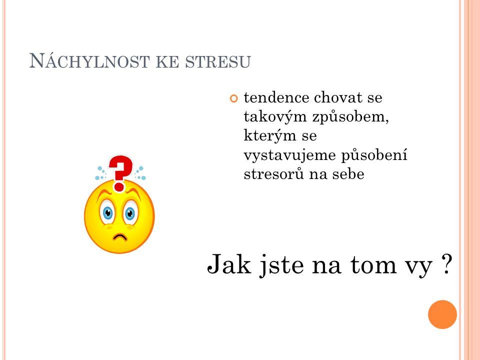 Jak jste na tom vy Náchylnost ke stresu