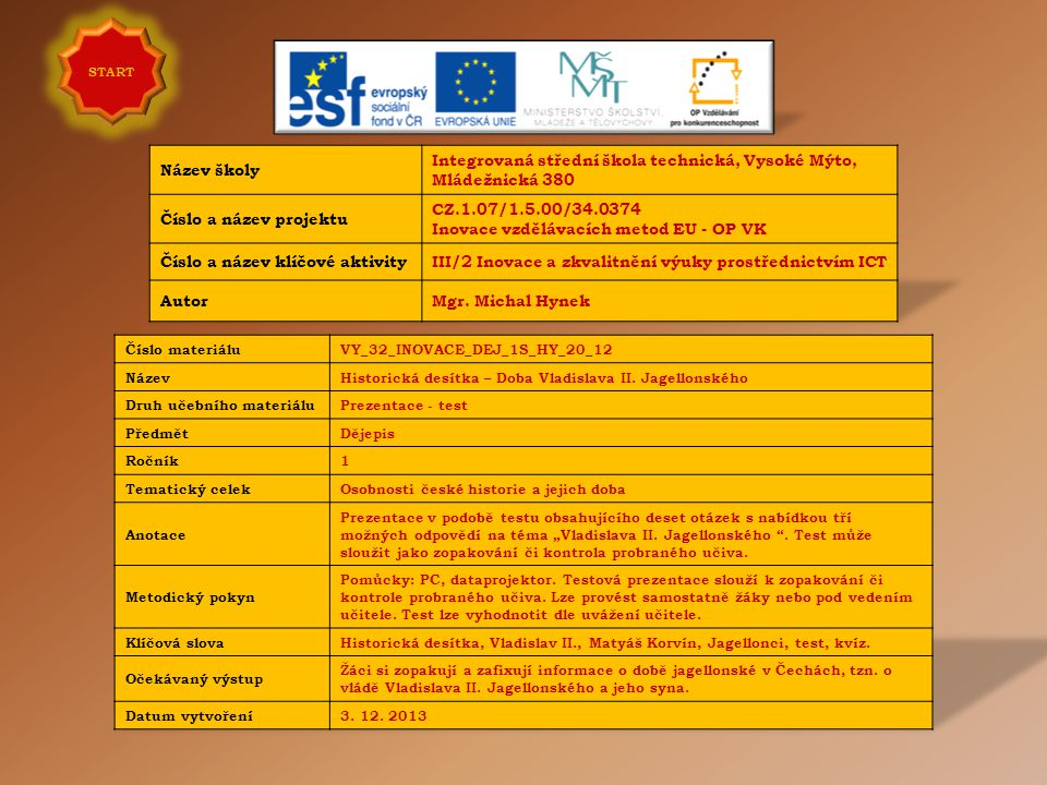 Integrovaná střední škola technická, Vysoké Mýto, Mládežnická 380