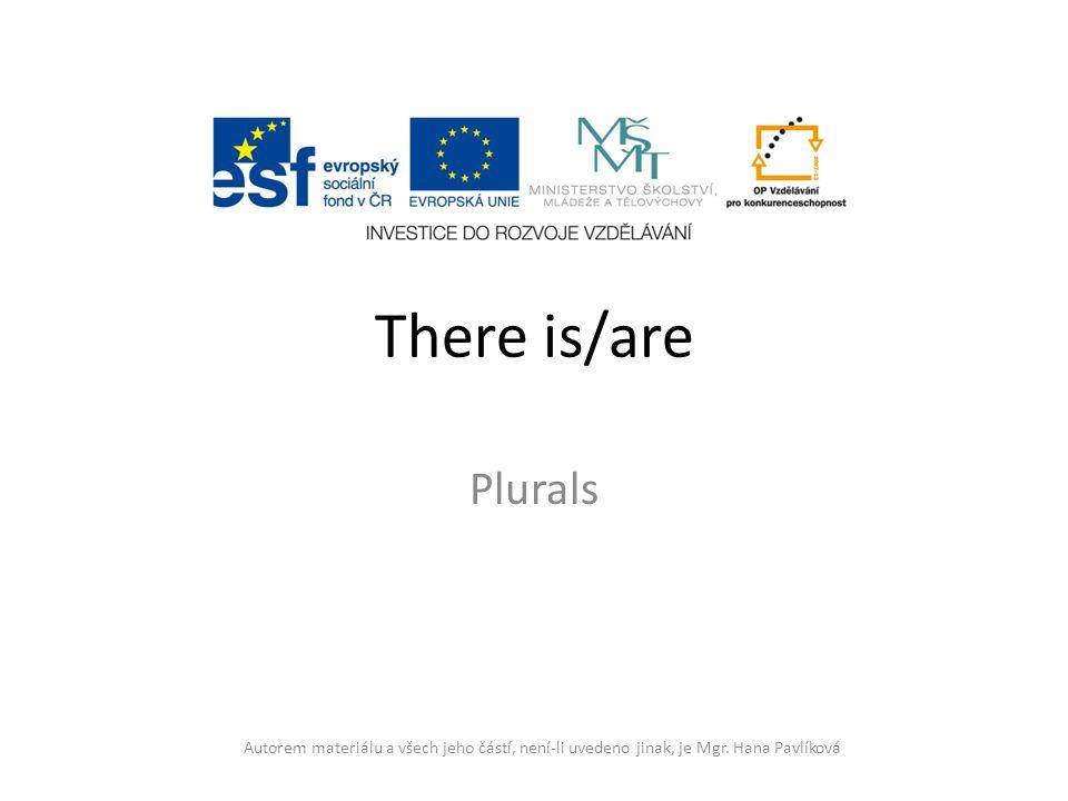 There is/are Plurals. Autorem materiálu a všech jeho částí, není-li uvedeno jinak, je Mgr.