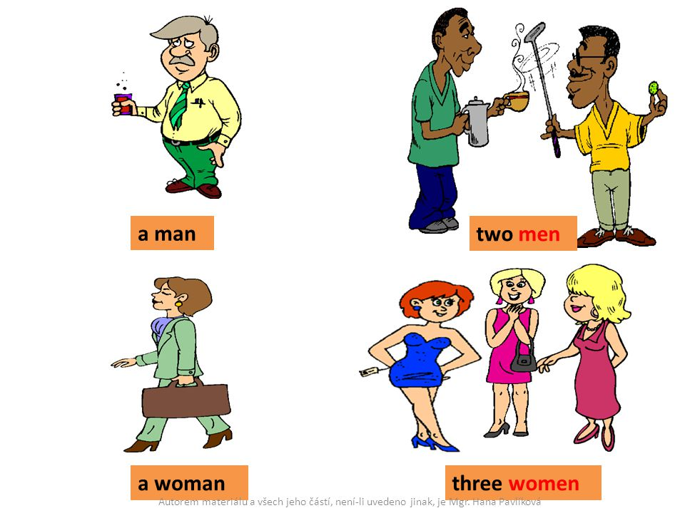 a man two men a woman three women
