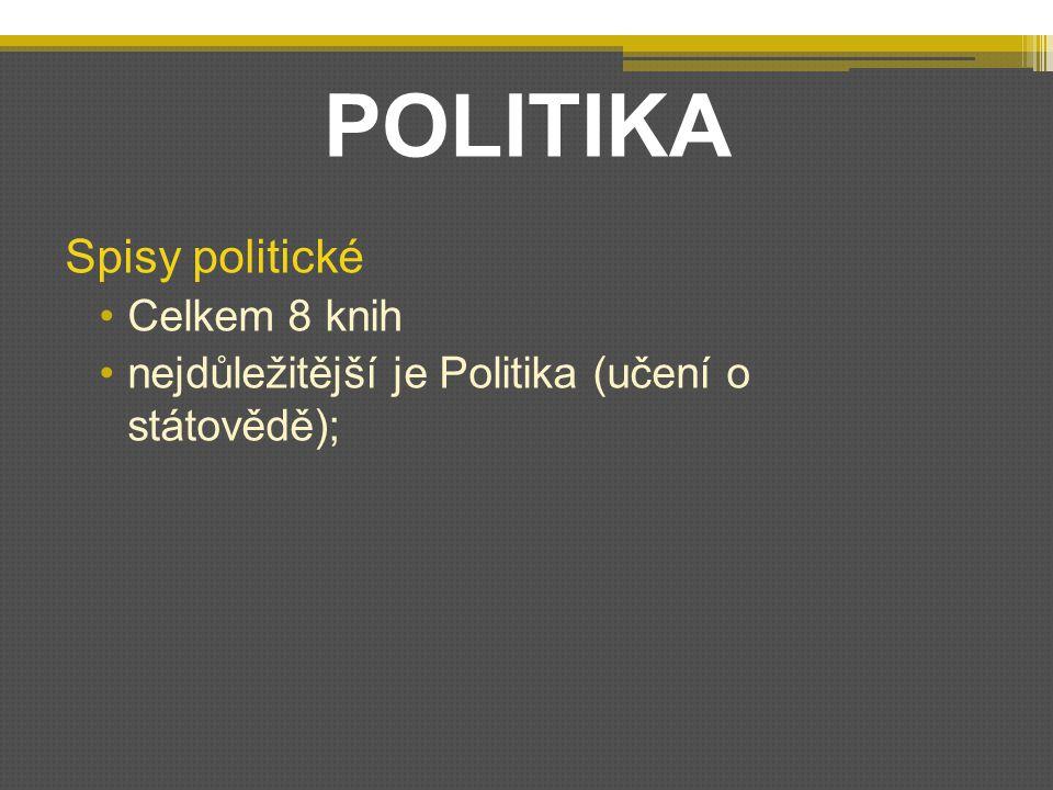 POLITIKA Spisy politické Celkem 8 knih