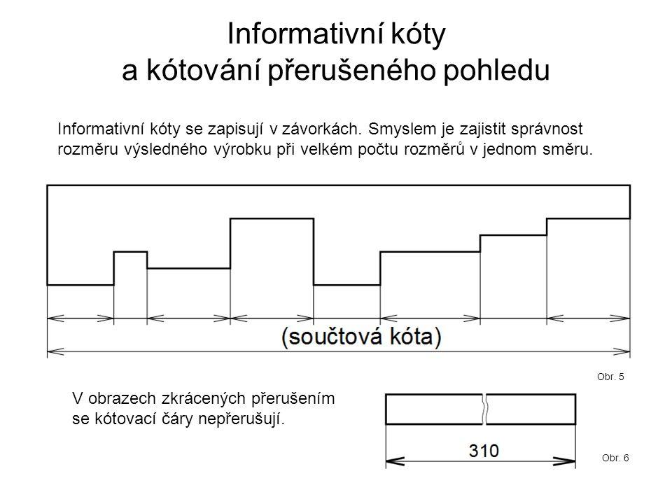 Informativní kóty a kótování přerušeného pohledu