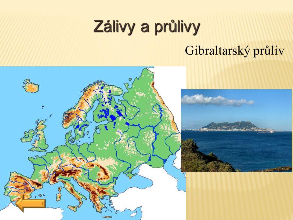 Zálivy a průlivy Gibraltarský průliv