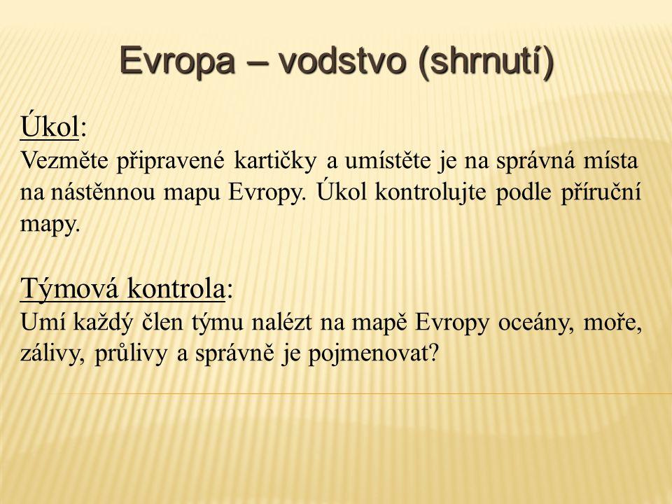 Evropa – vodstvo (shrnutí)