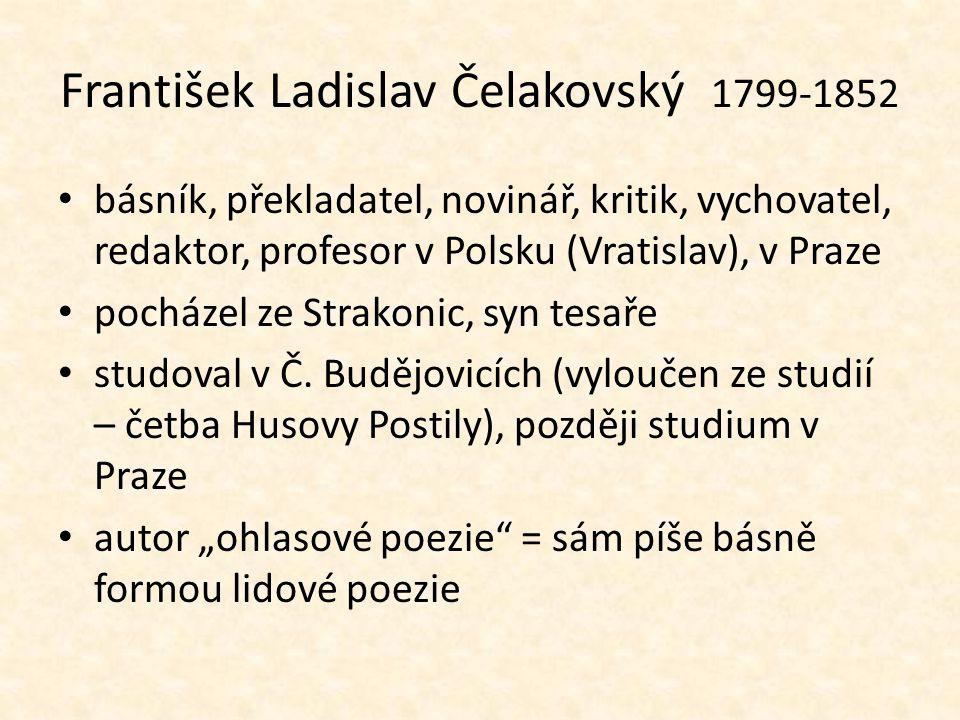 František Ladislav Čelakovský 1799-1852