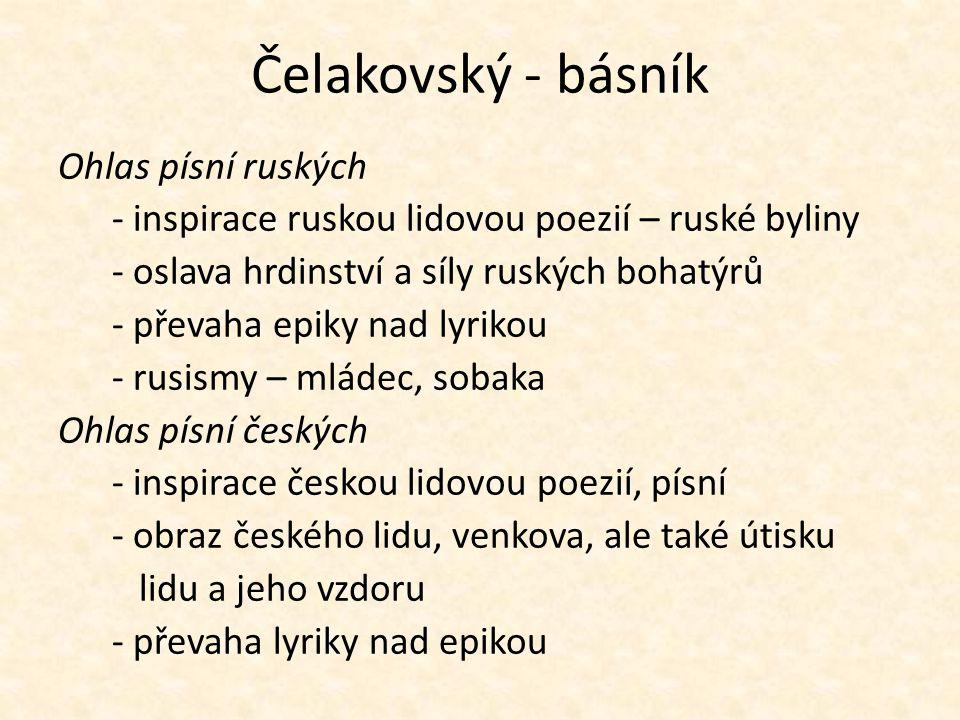 Čelakovský - básník