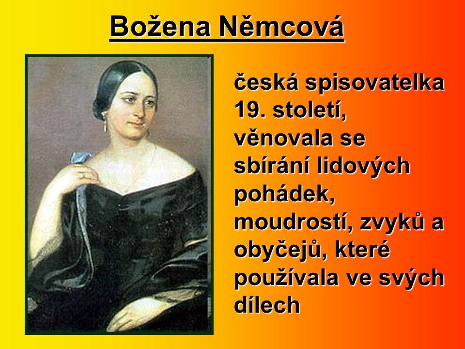 Božena Němcová česká spisovatelka 19.