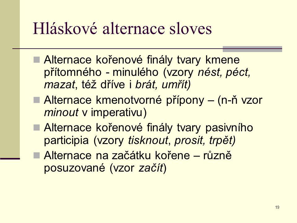 Hláskové alternace sloves
