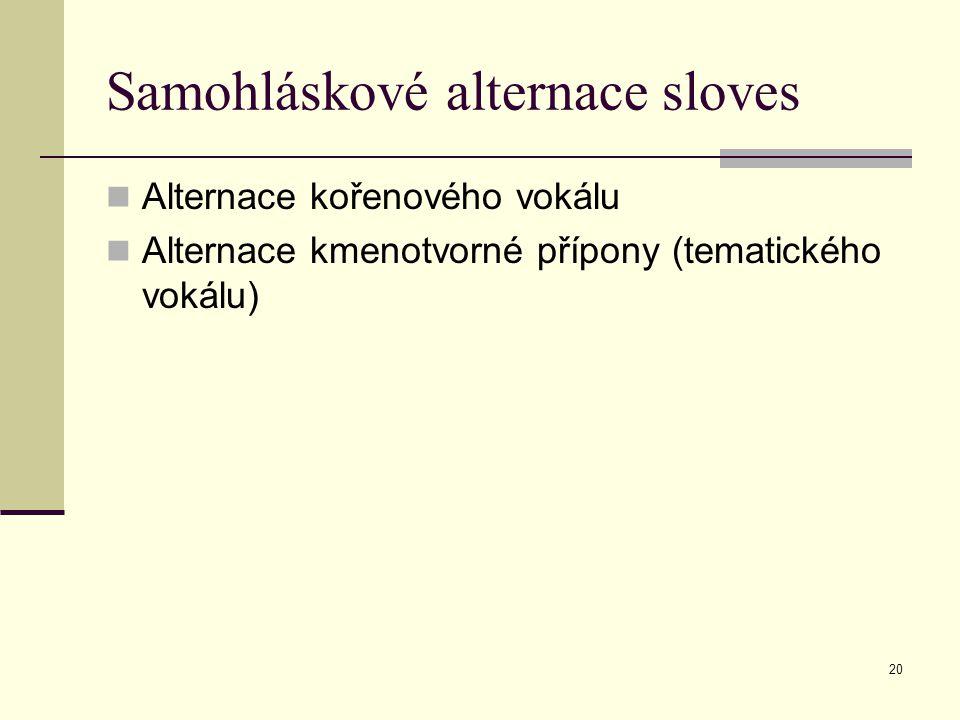 Samohláskové alternace sloves