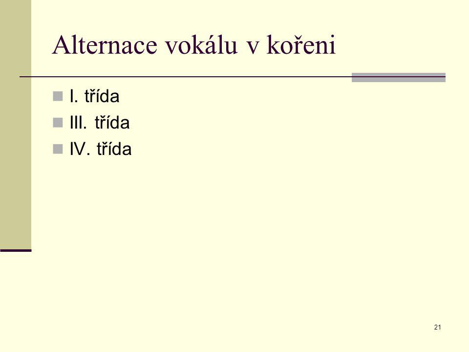 Alternace vokálu v kořeni