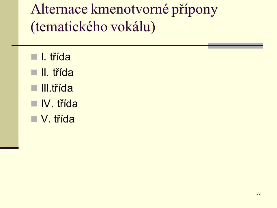 Alternace kmenotvorné přípony (tematického vokálu)