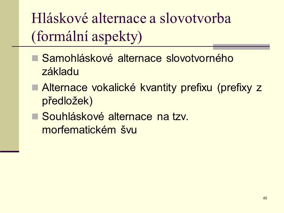 Hláskové alternace a slovotvorba (formální aspekty)
