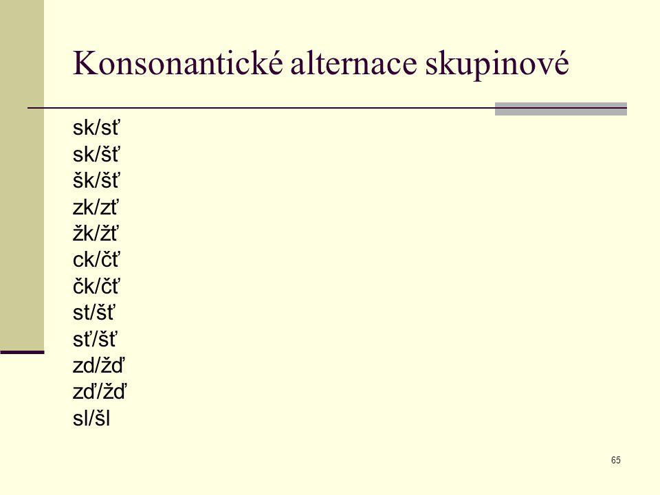 Konsonantické alternace skupinové