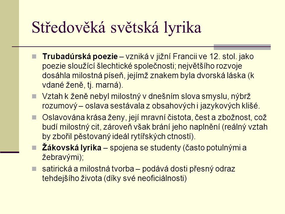 Středověká světská lyrika