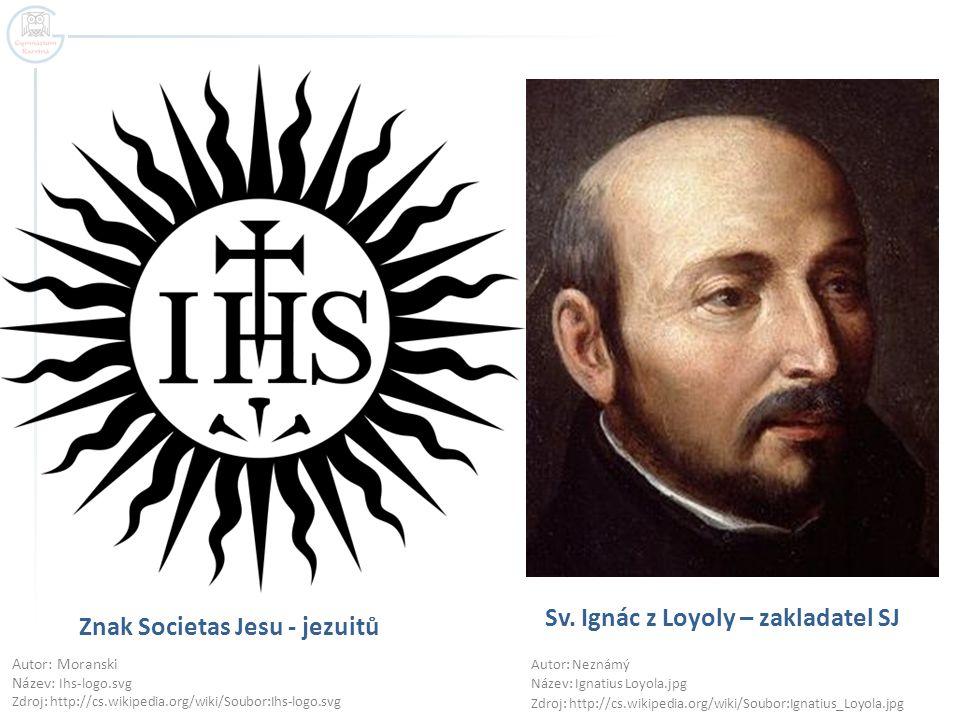 Znak Societas Jesu - jezuitů