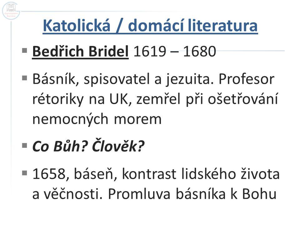 Katolická / domácí literatura