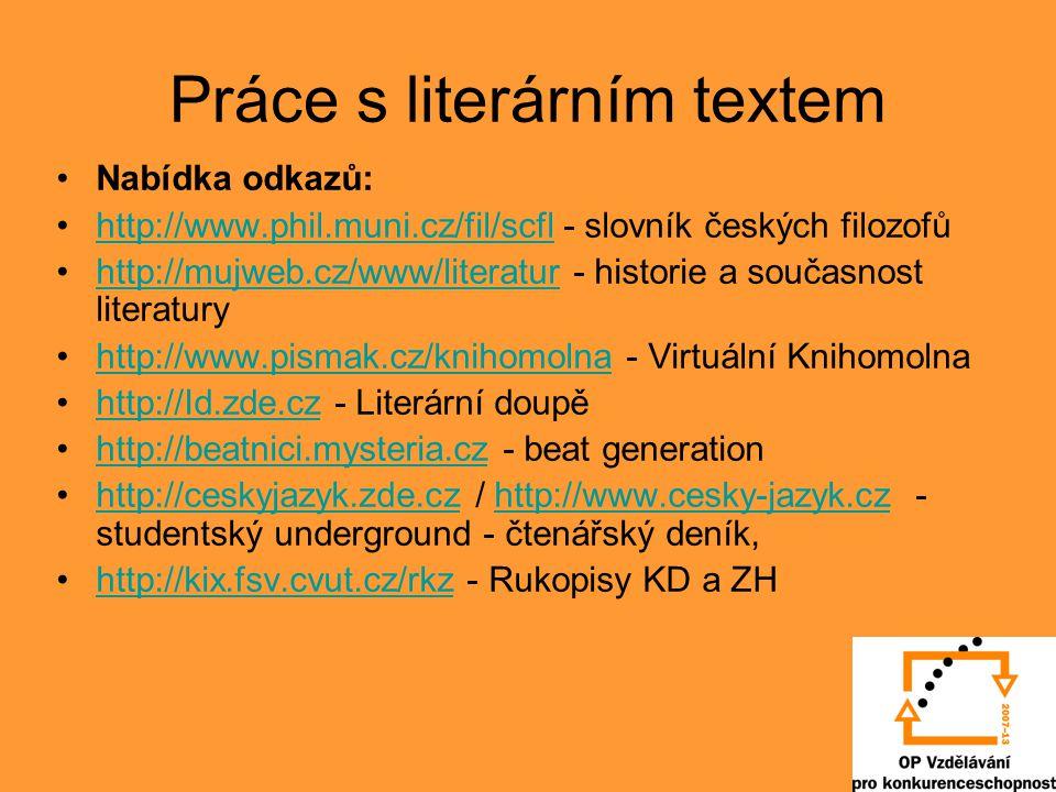 Práce s literárním textem