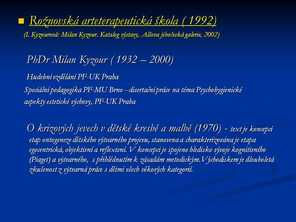 Rožnovská arteterapeutická škola ( 1992)