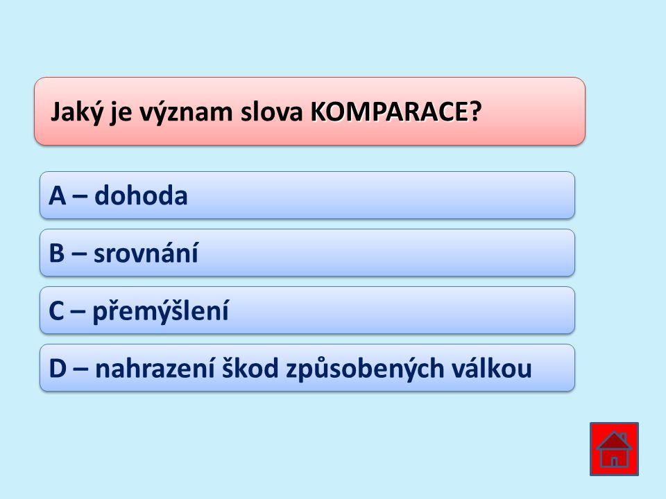 Jaký je význam slova KOMPARACE