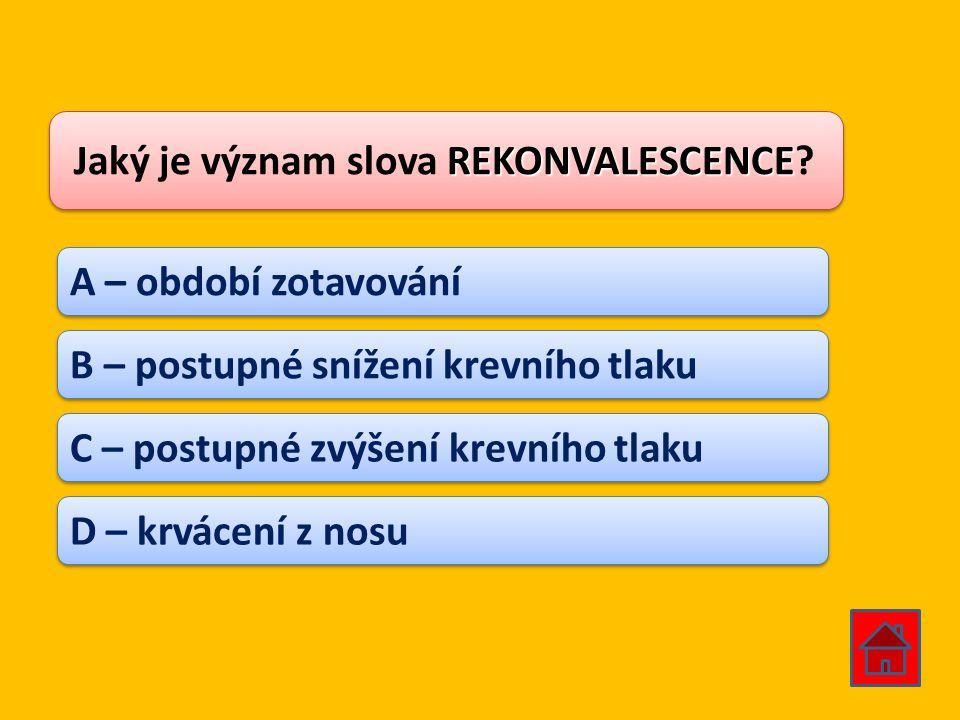 Jaký je význam slova REKONVALESCENCE