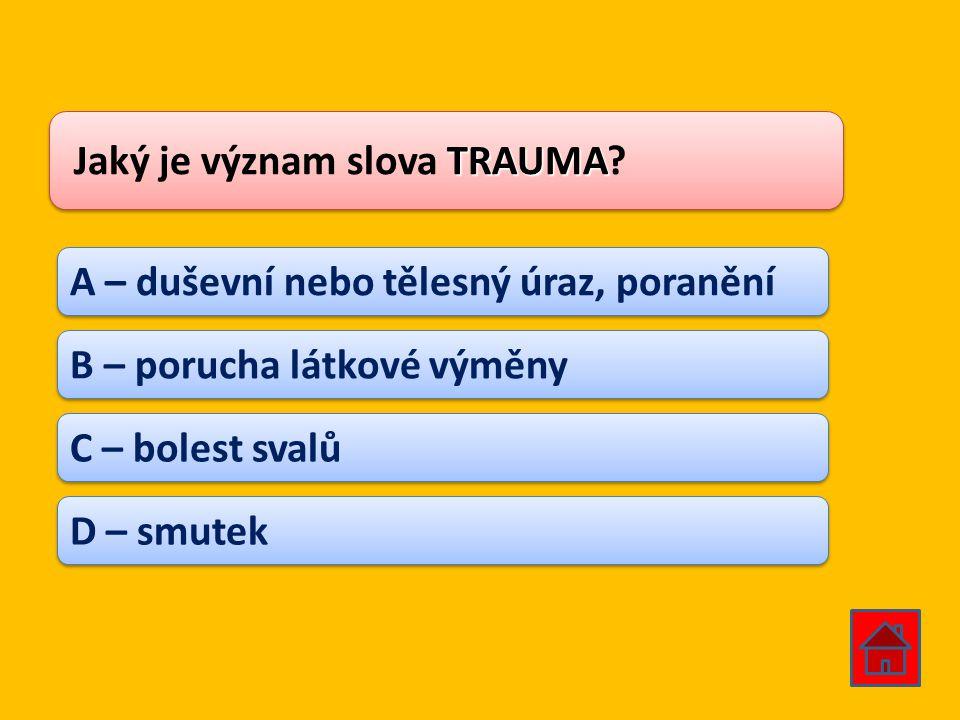 Jaký je význam slova TRAUMA