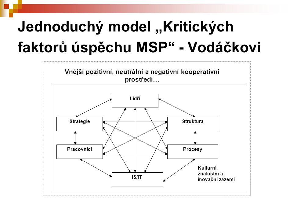 """Jednoduchý model """"Kritických faktorů úspěchu MSP - Vodáčkovi"""