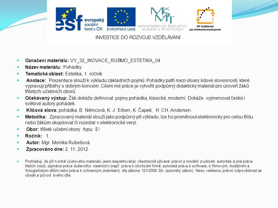 Označení materiálu: VY_32_INOVACE_RUBMO_ESTETIKA_04