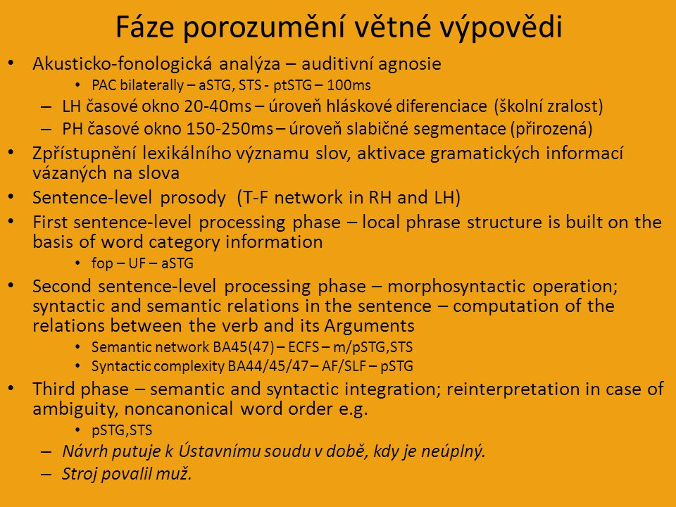 Fáze porozumění větné výpovědi