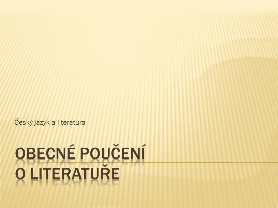 Obecné poučení o literatuře