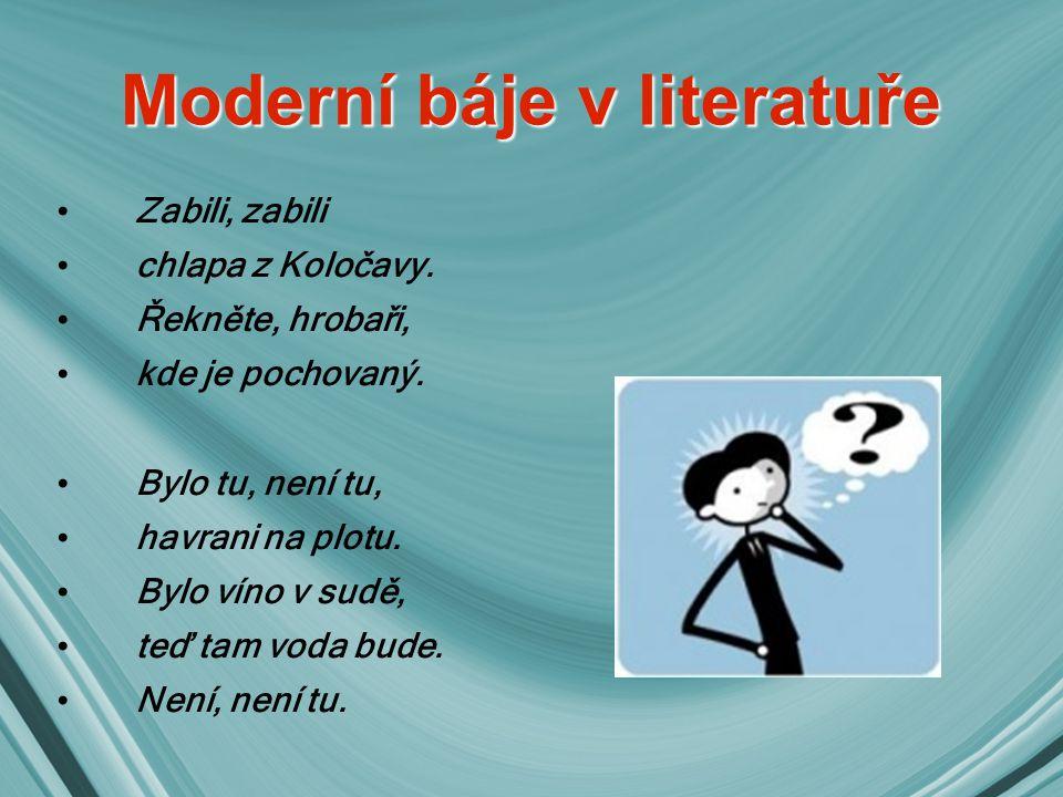 Moderní báje v literatuře