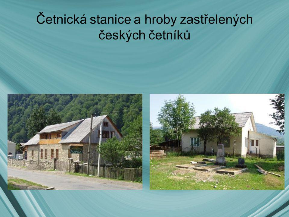 Četnická stanice a hroby zastřelených českých četníků