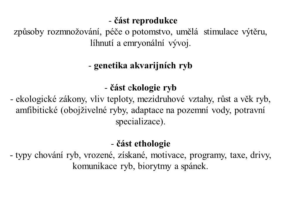 genetika akvarijních ryb