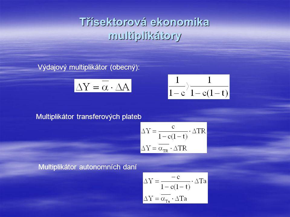 Třísektorová ekonomika multiplikátory