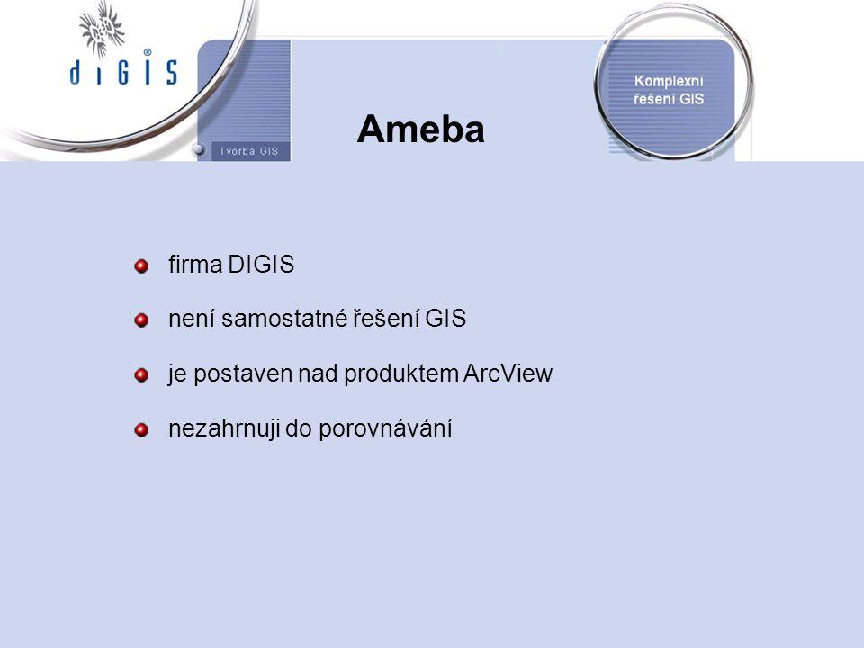 Ameba firma DIGIS není samostatné řešení GIS