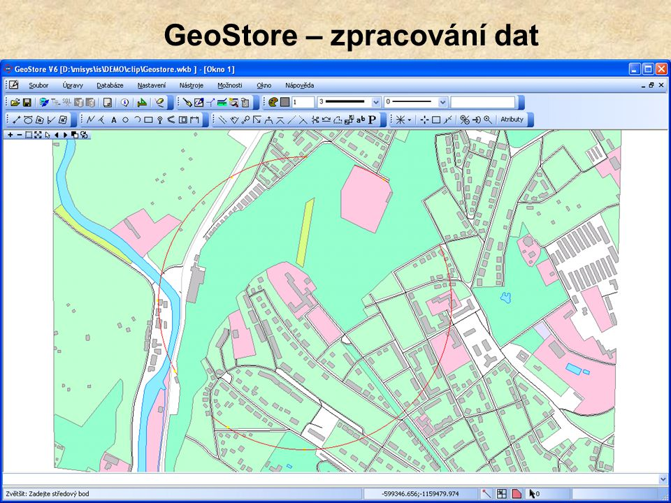 GeoStore – zpracování dat