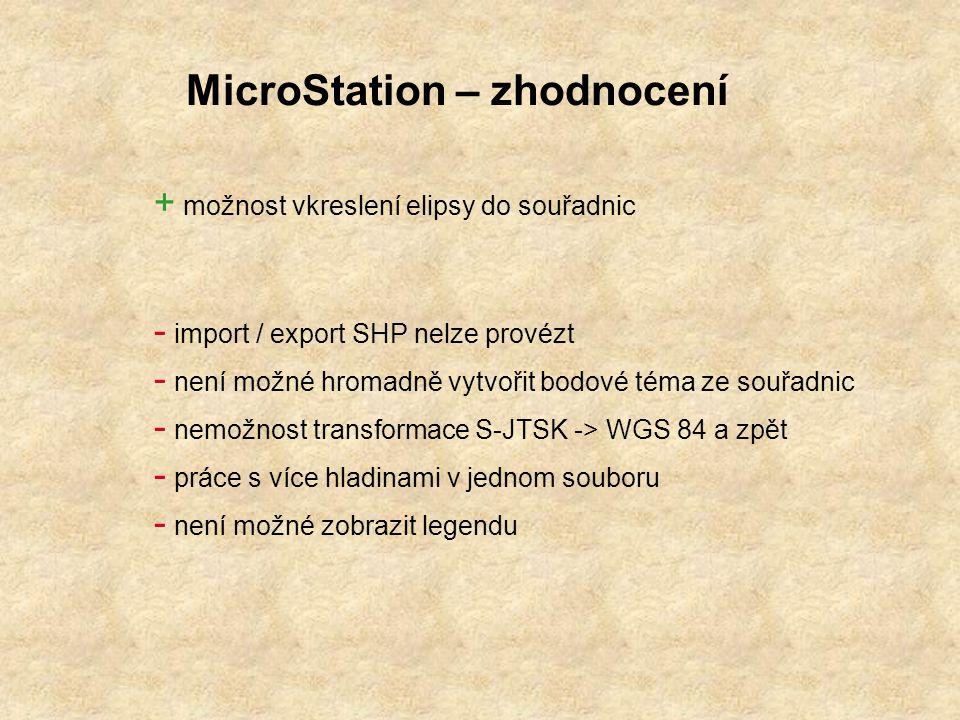 MicroStation – zhodnocení