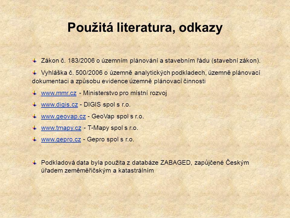Použitá literatura, odkazy
