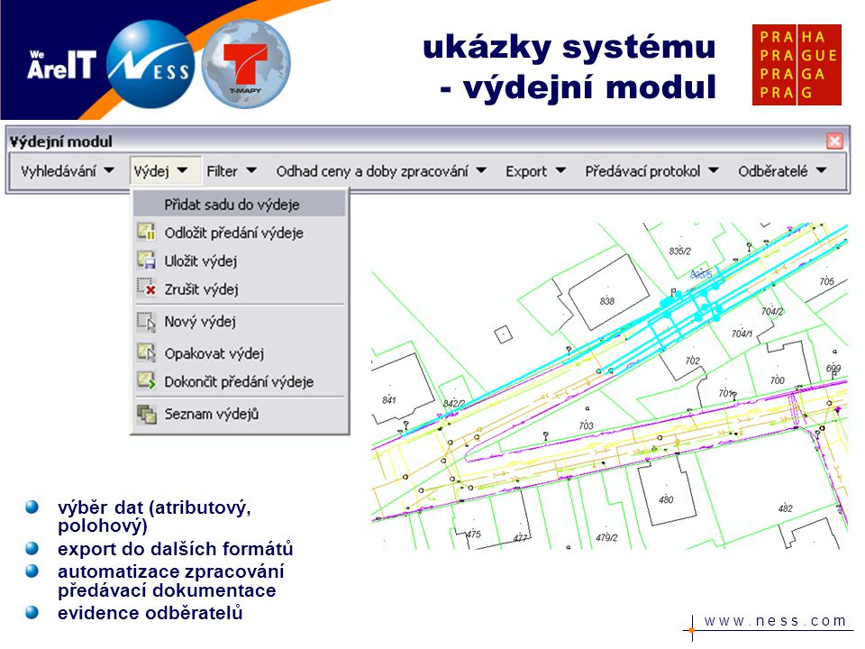 ukázky systému - výdejní modul