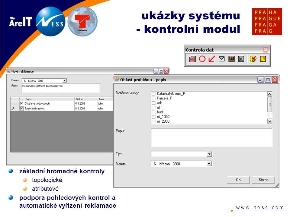 ukázky systému - kontrolní modul