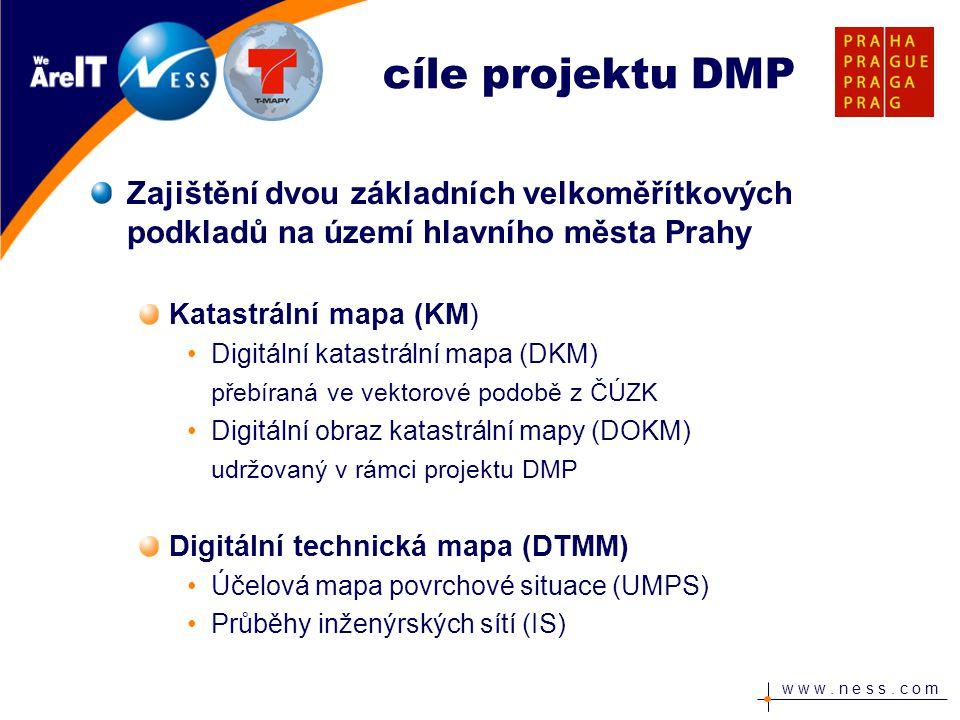 cíle projektu DMP Zajištění dvou základních velkoměřítkových podkladů na území hlavního města Prahy.