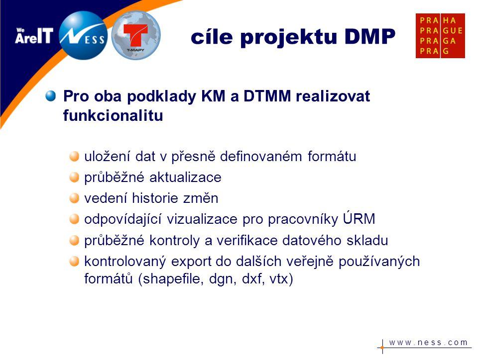 cíle projektu DMP Pro oba podklady KM a DTMM realizovat funkcionalitu