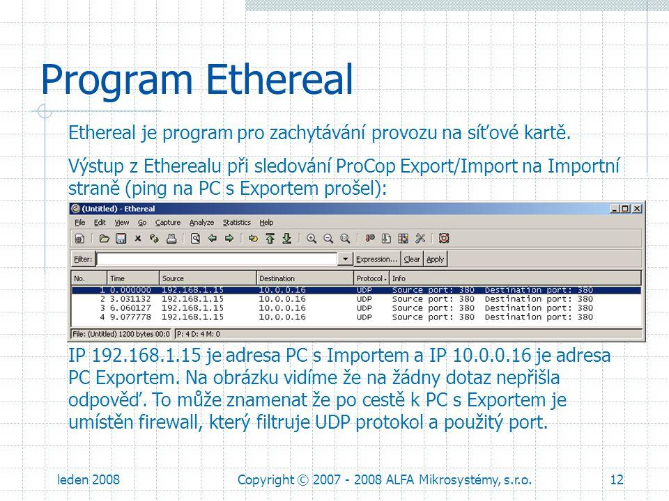 Copyright © 2007 - 2008 ALFA Mikrosystémy, s.r.o.