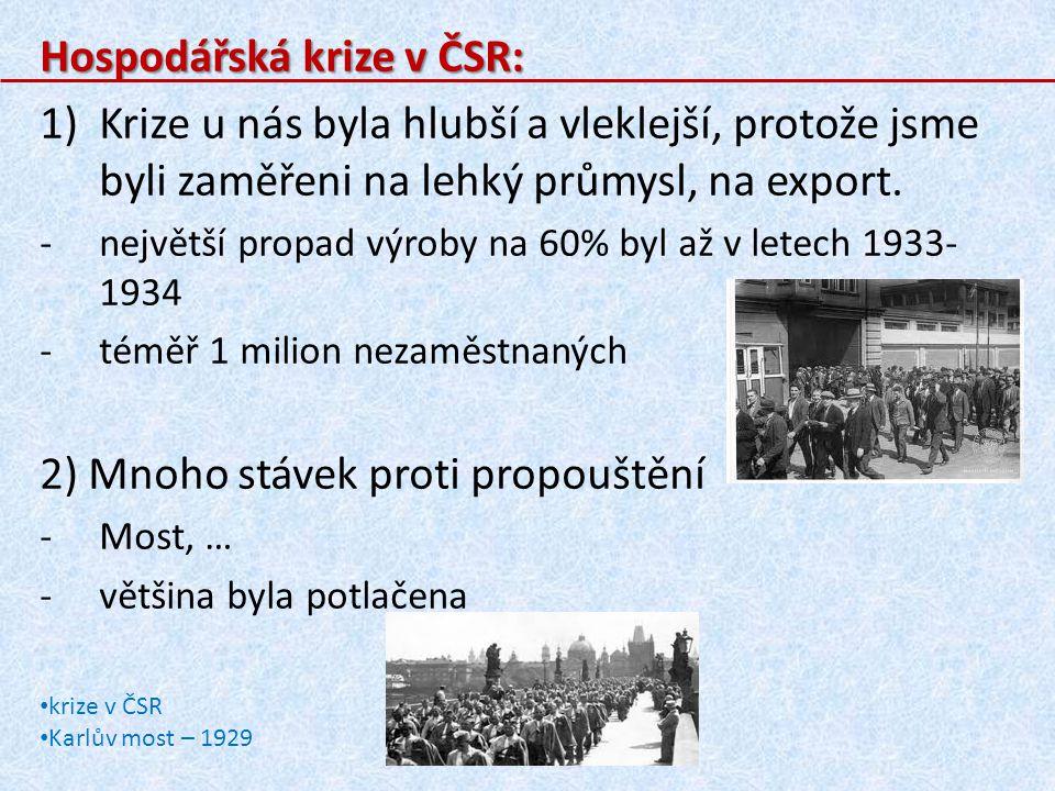 Hospodářská krize v ČSR: