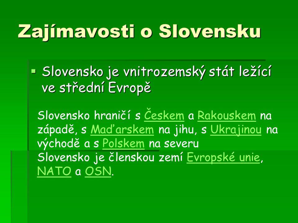 Zajímavosti o Slovensku